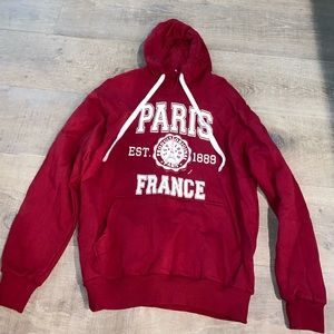 AUTHENTIC PARIS FRANCE RED HOODIE